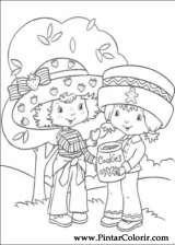 Pintar e Colorir Docinho De Morango - Desenho 042