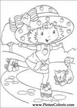 Pintar e Colorir Docinho De Morango - Desenho 043