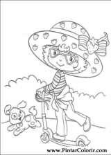 Pintar e Colorir Docinho De Morango - Desenho 050