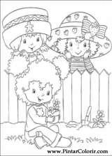 Pintar e Colorir Docinho De Morango - Desenho 051