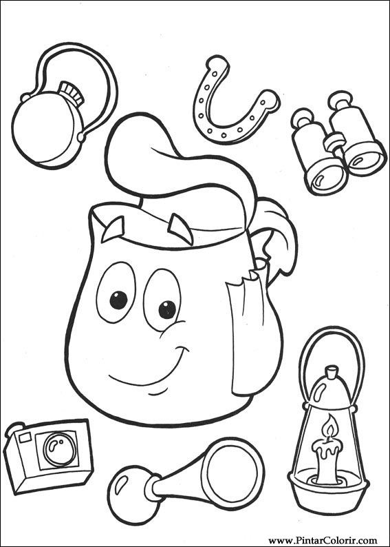 Drawings To Paint Colour Dora The Explorer Print The Explorer Coloring Page