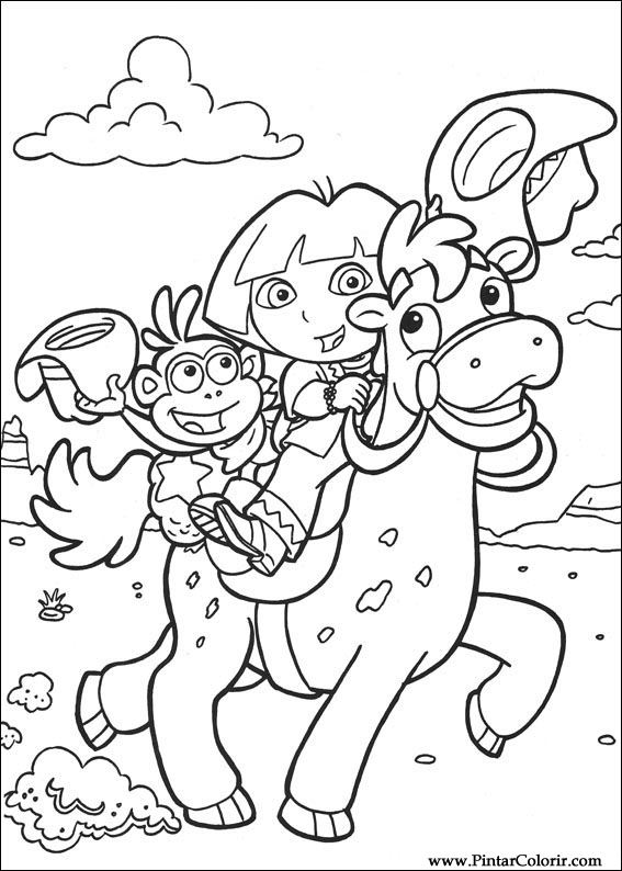 Drawings To Paint  Colour Dora The Explorer  Print Design 008