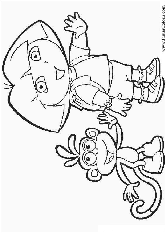 Drawings To Paint  Colour Dora The Explorer  Print Design 032