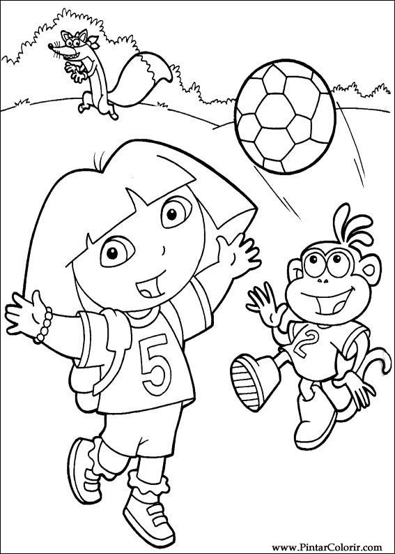 Desenhos para pintar e colorir dora a aventureira for Swiper coloring page