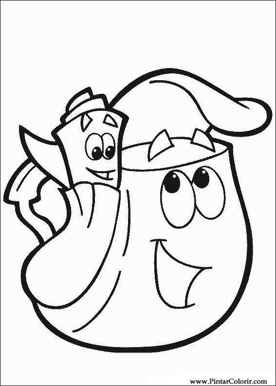 Dibujos para pintar y Color Dora la Exploradora  Diseo de