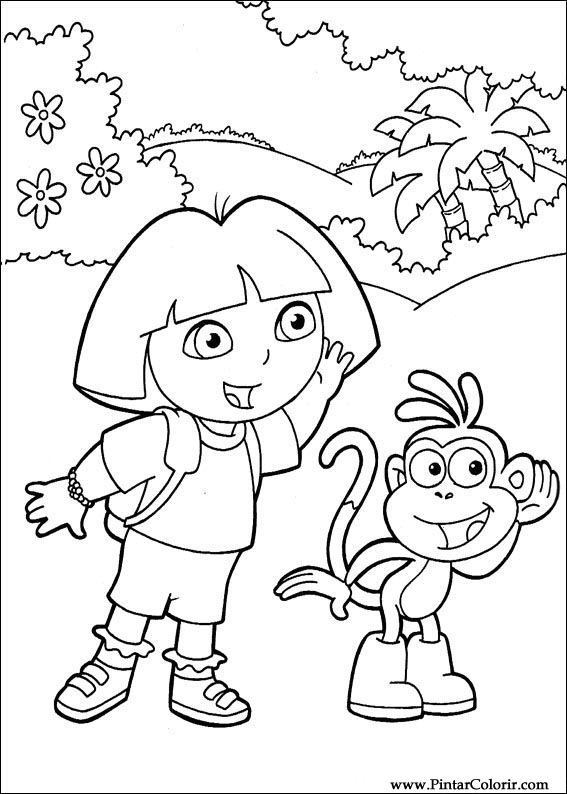 Drawings To Paint  Colour Dora The Explorer  Print Design 096