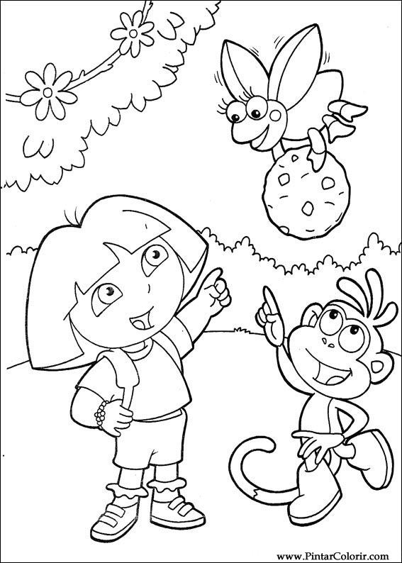 Drawings To Paint  Colour Dora The Explorer  Print Design 097