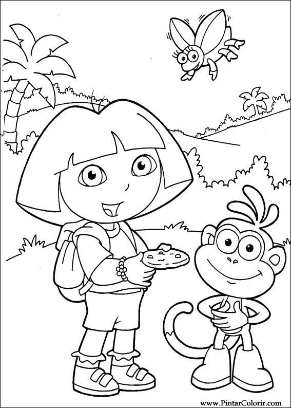 Drawings To Paint  Colour Dora The Explorer  Print Design 099