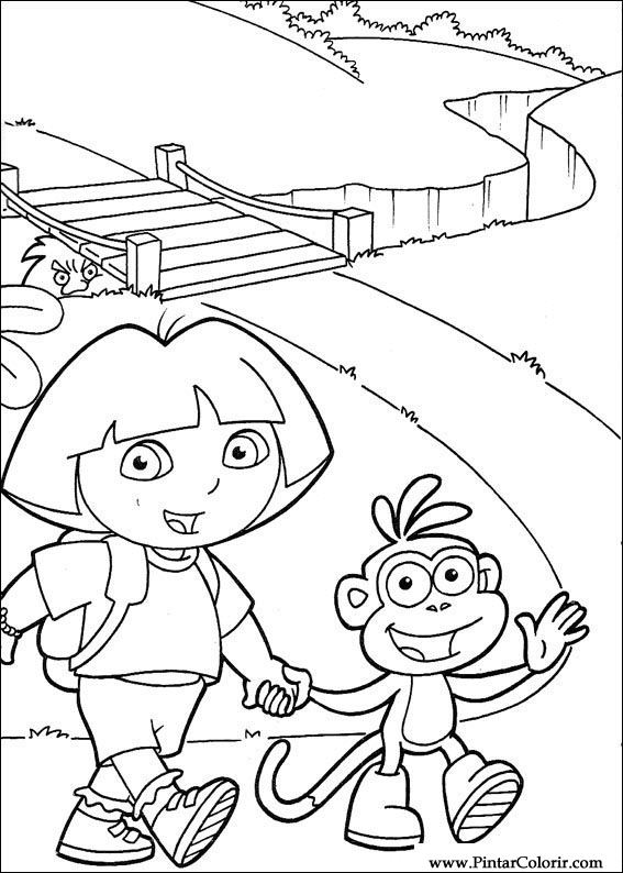 Drawings To Paint  Colour Dora The Explorer  Print Design 117