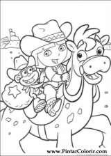 Pintar e Colorir Dora A Aventureira - Desenho 002