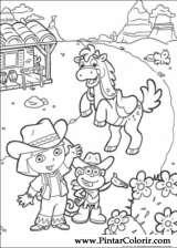 Pintar e Colorir Dora A Aventureira - Desenho 006