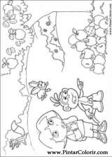 Pintar e Colorir Dora A Aventureira - Desenho 103