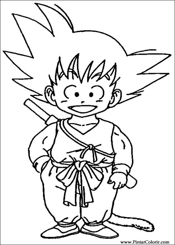 Drawings To Paint  Colour Dragon Ball Z  Print Design 005