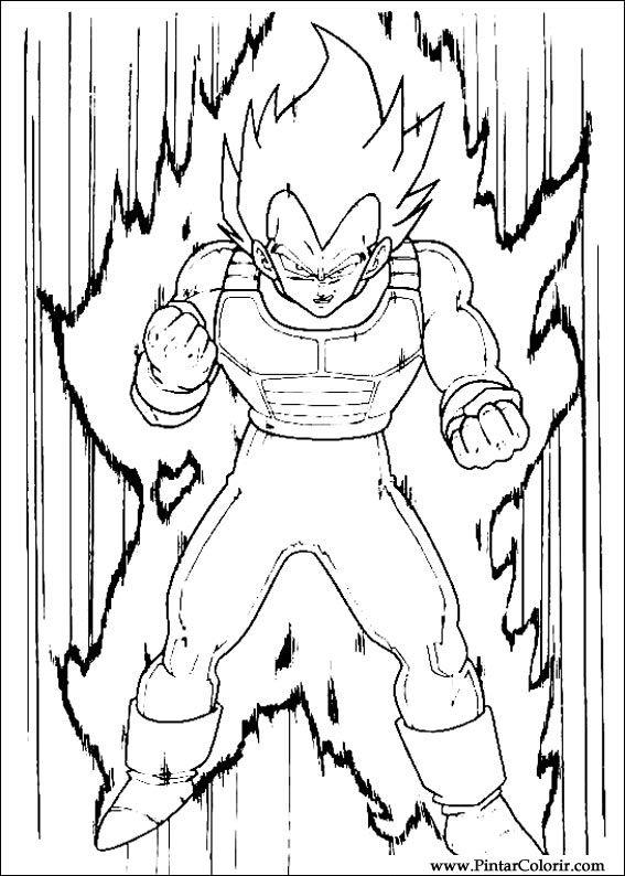 Disegni Per Dipingere amp Colour Dragon Ball Z Stampare