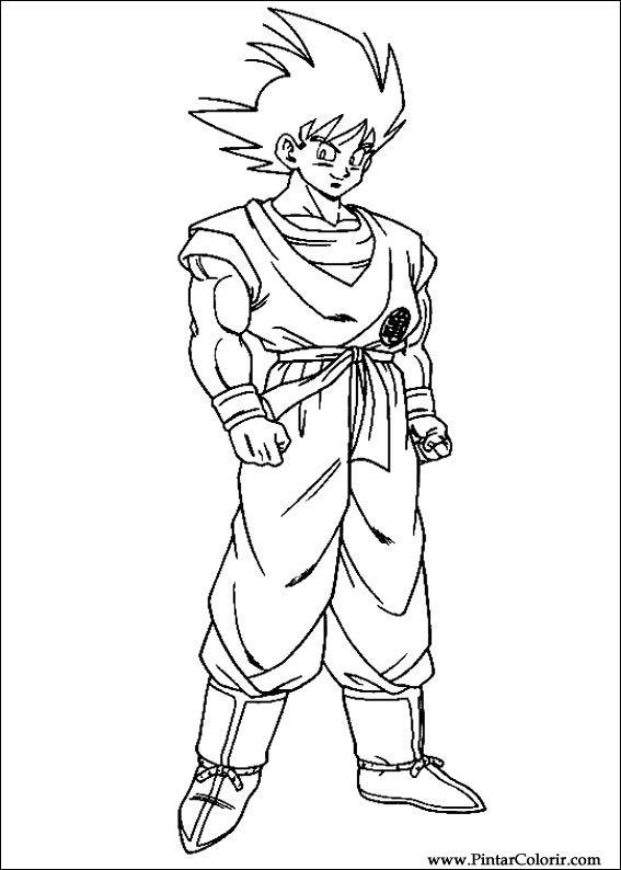 Dibujos para pintar y Color Dragon Ball Z - Diseño de impresión 016