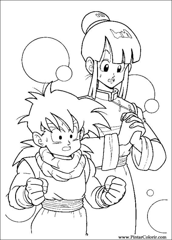 Drawings To Paint amp Colour Dragon Ball Z Print Design 022