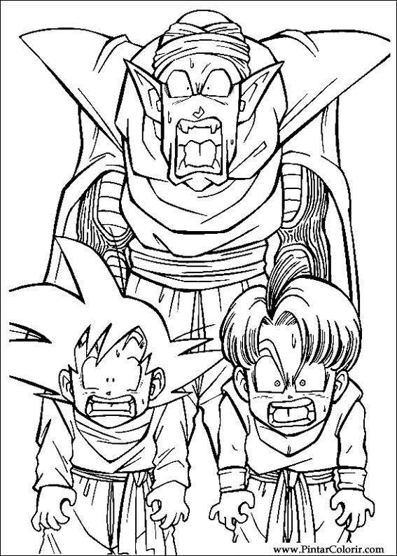 Zeichnungen zu malen und Farbe Dragon Ball Z - Print Design 026