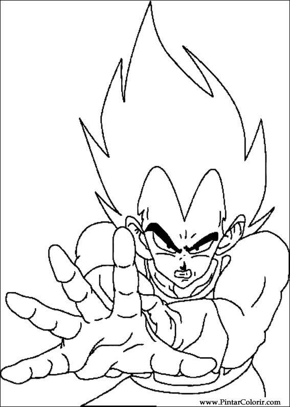 Dibujos para pintar y Color Dragon Ball Z  Diseo de impresin 034