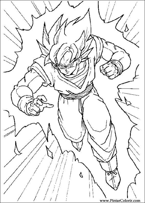 Zeichnungen zu malen und Farbe Dragon Ball Z - Print Design 037