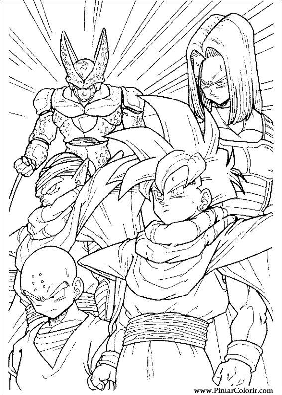 Drawings To Paint amp Colour Dragon Ball Z Print Design 039