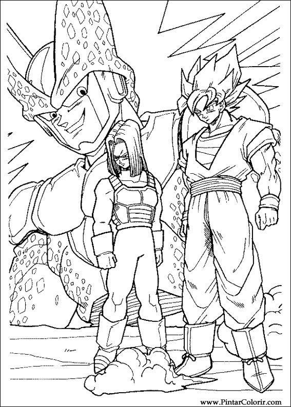 Zeichnungen zu malen und Farbe Dragon Ball Z - Print Design 040