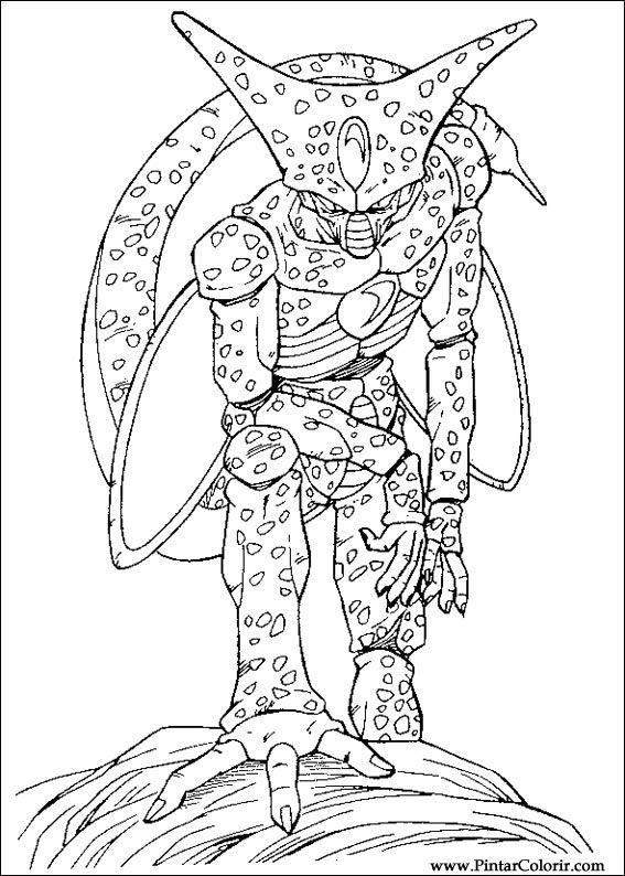 Dibujos para pintar y Color Dragon Ball Z  Diseo de impresin 041