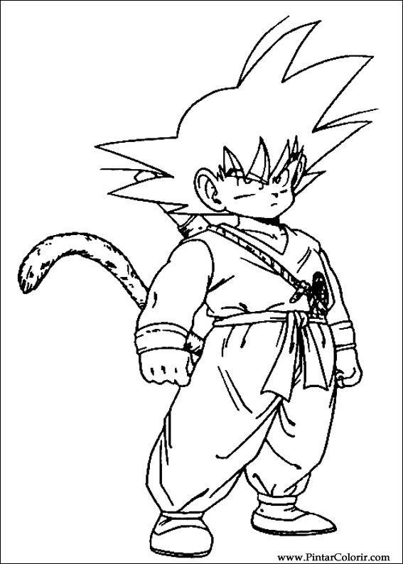 Dibujos para pintar y Color Dragon Ball Z - Diseño de impresión 045