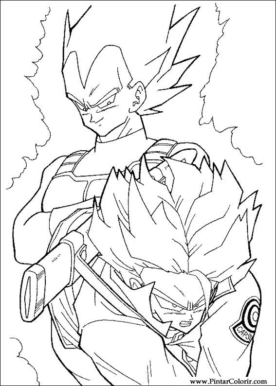 Drawings To Paint amp Colour Dragon Ball Z Print Design 047