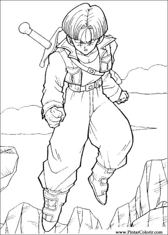 Drawings To Paint amp Colour Dragon Ball Z Print Design 066