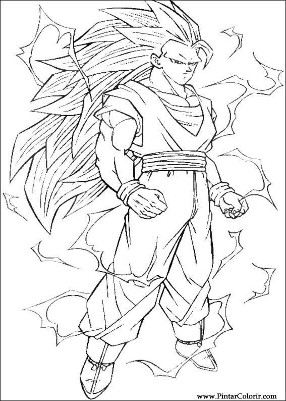 Zeichnungen zu malen und Farbe Dragon Ball Z - Seite 9