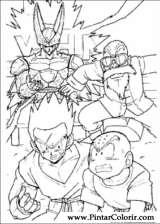 Pintar e Colorir Dragon Ball Z - Desenho 003