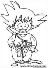 Pintar e Colorir Dragon Ball Z - Desenho 005