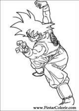 Pintar e Colorir Dragon Ball Z - Desenho 065