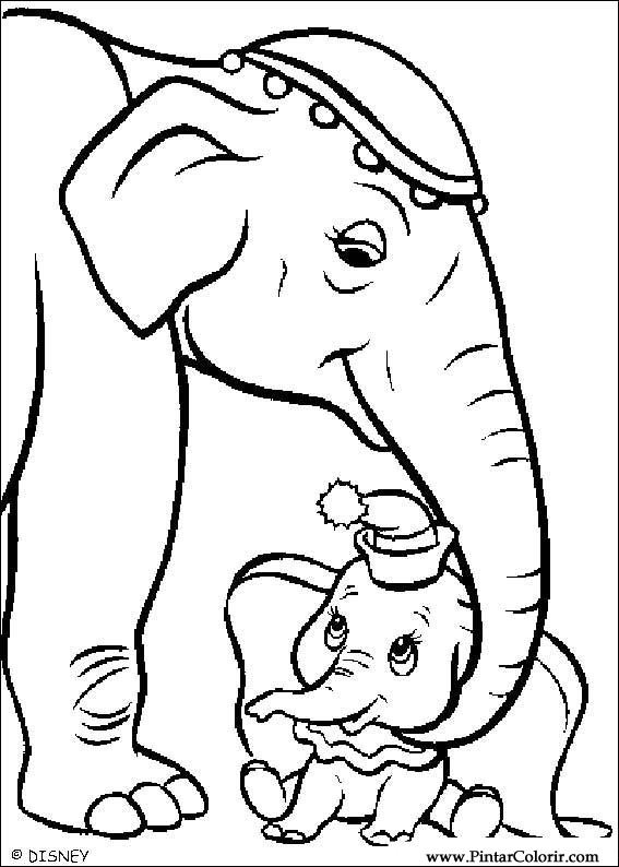 Dumbo Drawing Paint Colour Dumbo Drawing