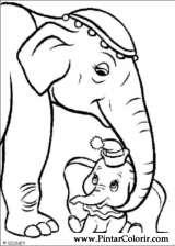Pintar e Colorir Dumbo - Desenho 004