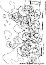 Pintar e Colorir Estrunfes - Desenho 008
