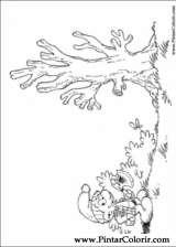 Pintar e Colorir Estrunfes - Desenho 021