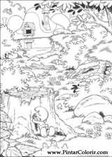 Pintar e Colorir Estrunfes - Desenho 026