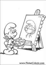 Pintar e Colorir Estrunfes - Desenho 030