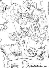 Pintar e Colorir Estrunfes - Desenho 040