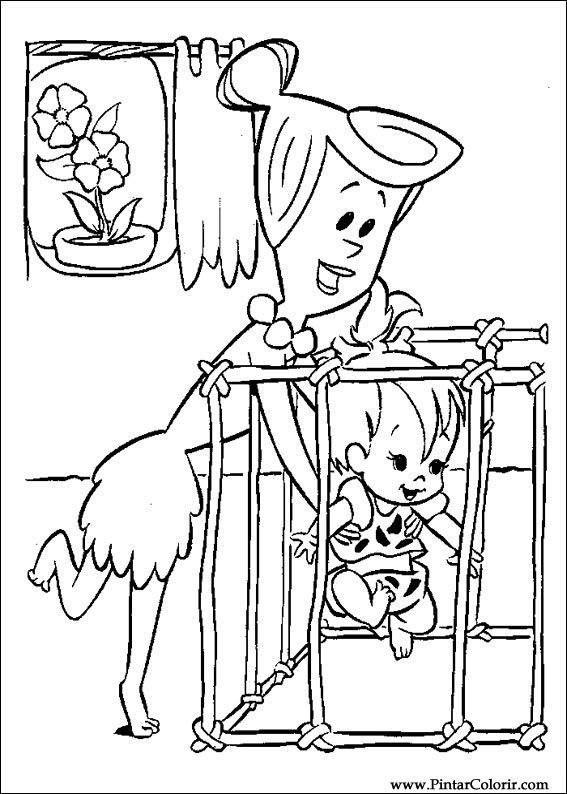 Kleurplaat Fifi En Haar Tekeningen Te Schilderen Amp Kleur Flintstones Print