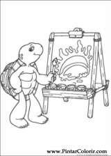 Pintar e Colorir Franklin - Desenho 005