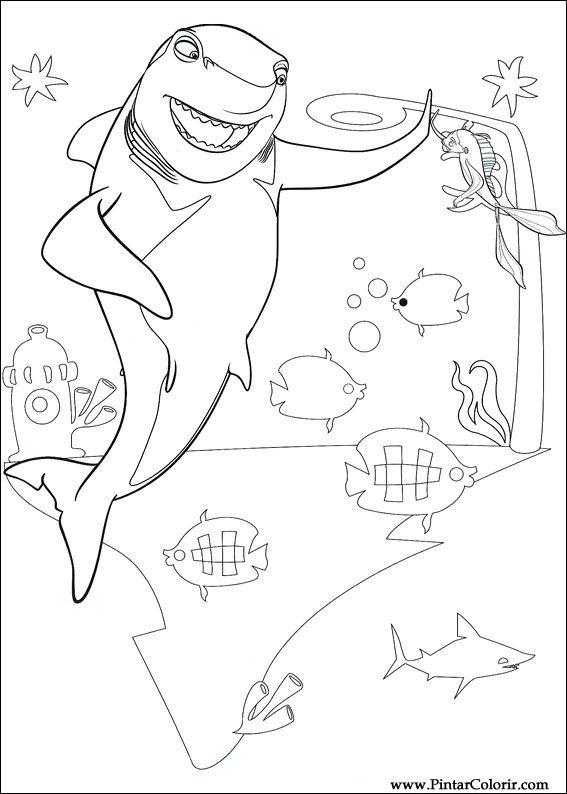 shark tale coloring pages dibujos para pintar y color shark tale dise o de