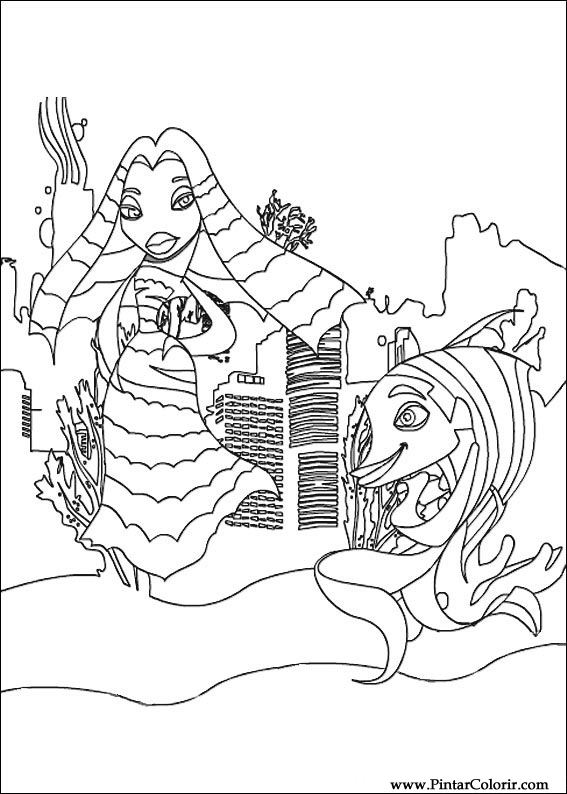 disney shark tale coloring pages - photo #18