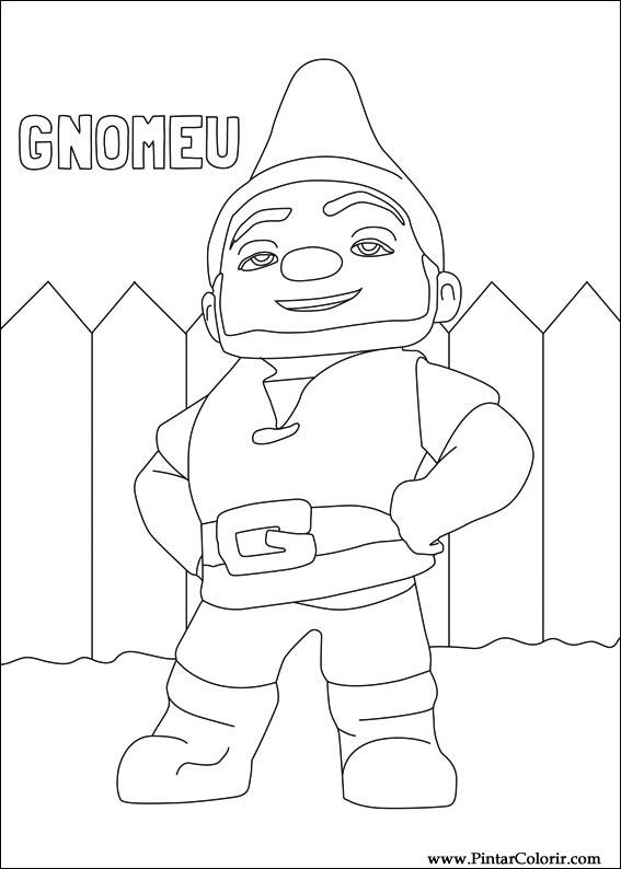 Drawings To Paint amp Colour Gnomeo