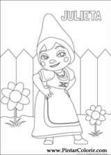 Pintar e Colorir Gnomeu Julieta - Desenho 003