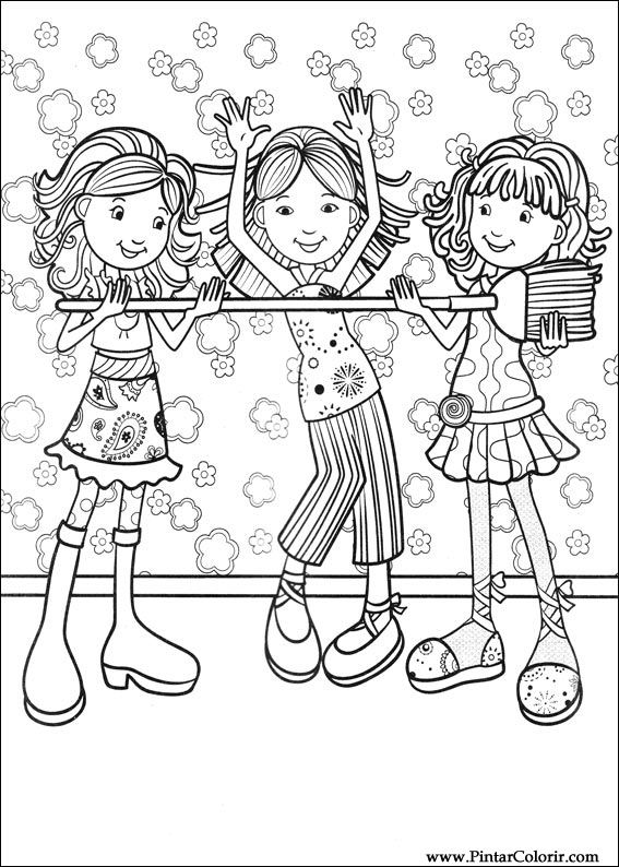 Desenhos Para Pintar E Colorir Groovy Girls Imprimir Groovy Coloring Pages Free Free
