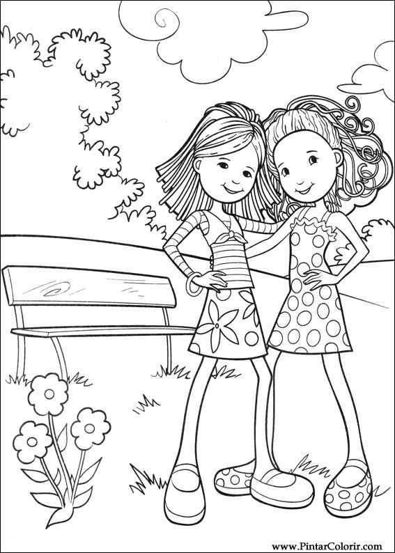 paint colour groovy girls drawing 034 - Drawing To Colour