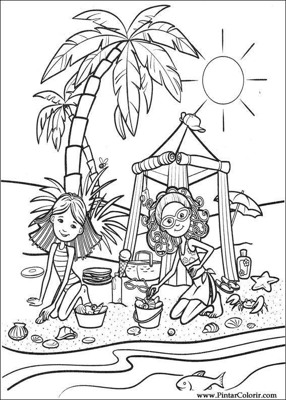 groovy girl coloring pages - drawings to paint colour groovy girls print design 053