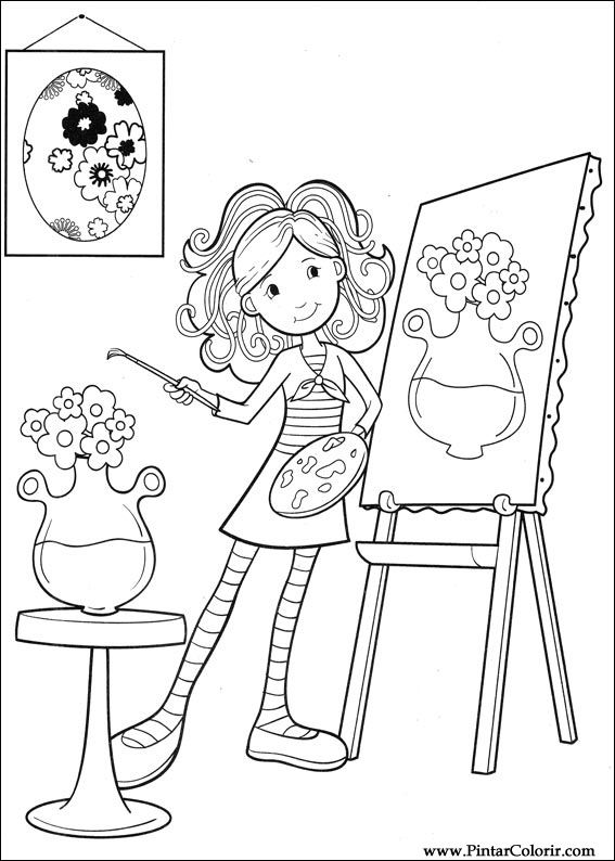 Drawings To Paint & Colour Groovy Girls - Print Design 062